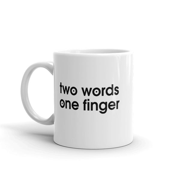 2 words 1 finger