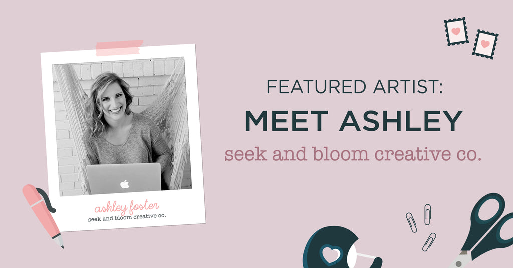 Mails here! Pressed floral artist Ashley Foster shares her passion for botanical designs