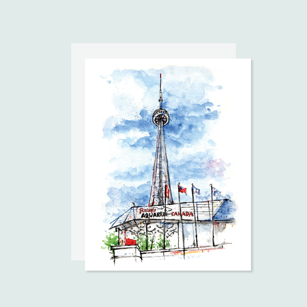 CN Tower Watercolour