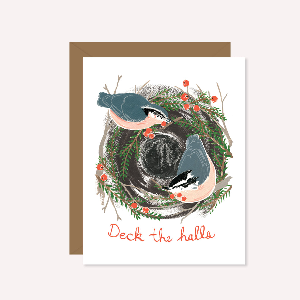 Deck the Halls Festive Nuthatch
