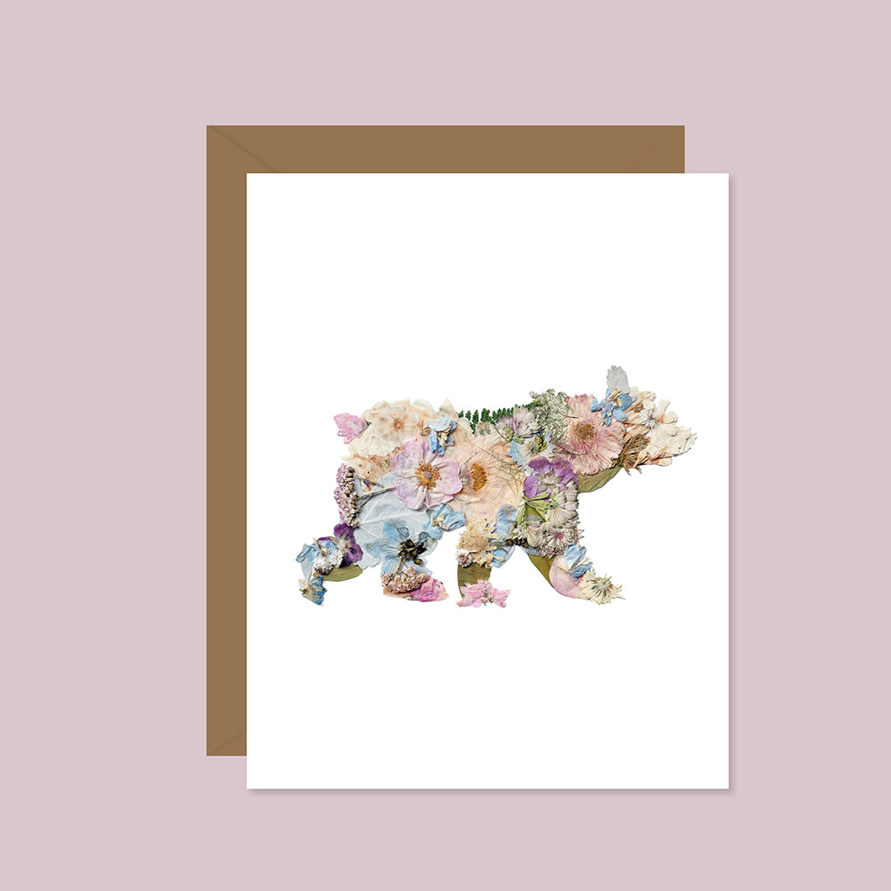 Pressed Flower Bear