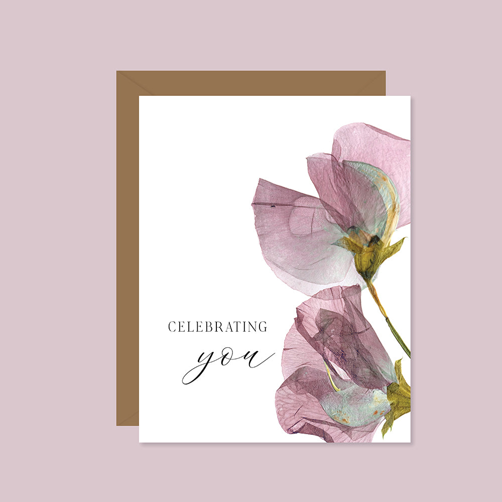 Celebrating You (Pressed Sweet Peas)
