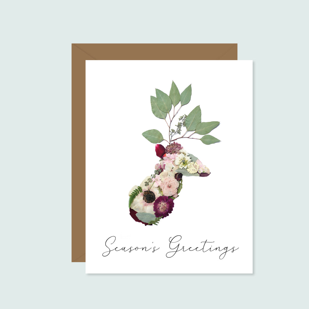 Season's Greetings Pressed Flowers
