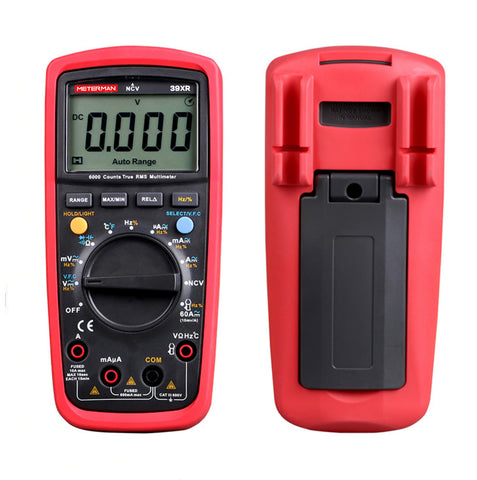 Meterman 39XR True RMS LCD Digital Auto Range Multimeter AC/DC Tester