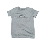 Kids t-shirt with pocket white background