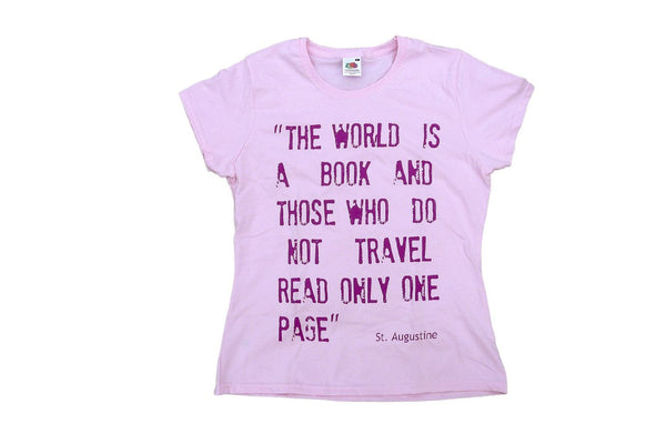 On sale! T-shirts with classical travel quotes!