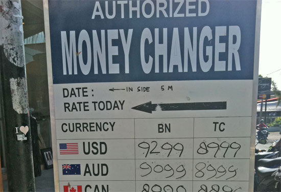 Unlicensed Money Exchange