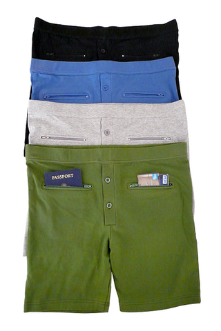 Underwear with secure zippered pockets