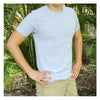 Crew Neck T-shirt with secret zipper pocket