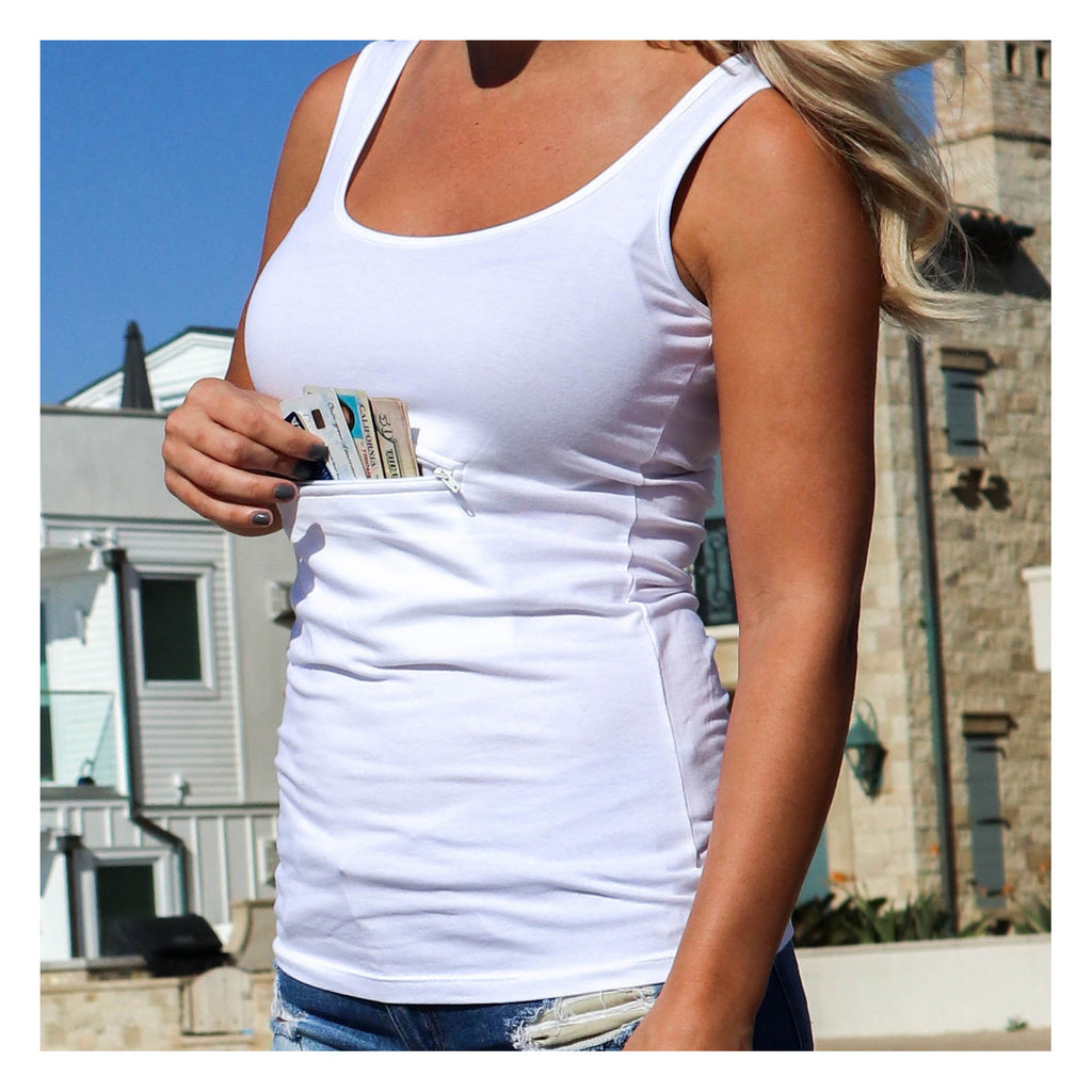 31623b8d4d04df Protection from theft and pickpocketing  Travel safety garment  tank ...