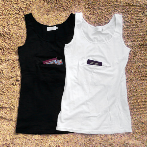 Unisex Tank top with Secret Zipper Pocket