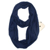 Infinity Lightweight Travel Scarf with Secret Zipper Pocket