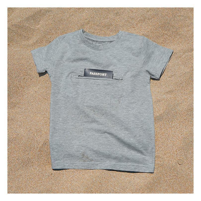 Kid's Crew Neck T-Shirt with Secret Pocket