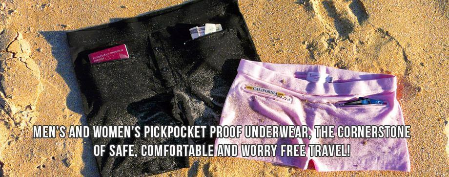 Men's and Women's underwear with pockets