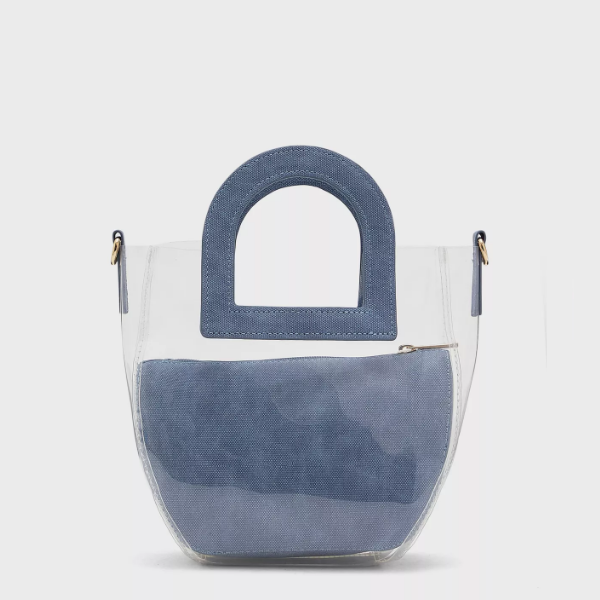 Sac transparent Bleu