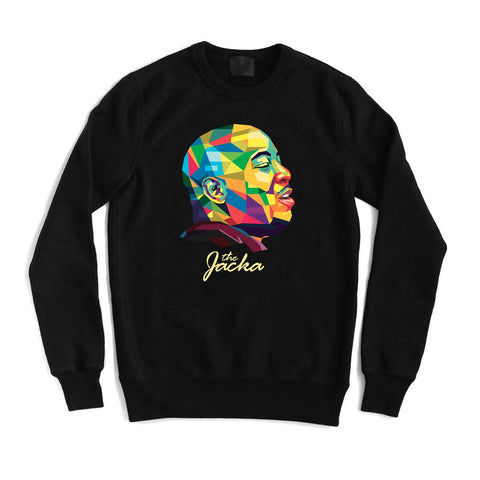 the Jacka Polygon Crewneck - Black