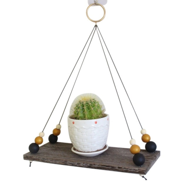 Nordic Nursery Hanging Wood Shelf