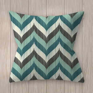 45*45cm Square Decorative Throw Pillow Case Geometric Striped Print Flower Pillowcase For Home Bedroom Home Office Decorative