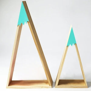 2pcs/set Nordic Style Wooden Snow Mountain Shelf