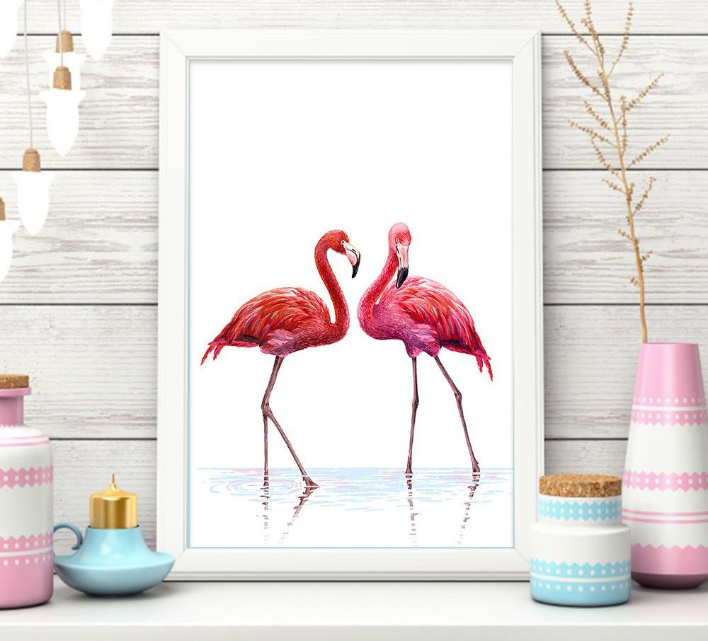 Flamingo Canvas Picture - uniquelyfurniture.com