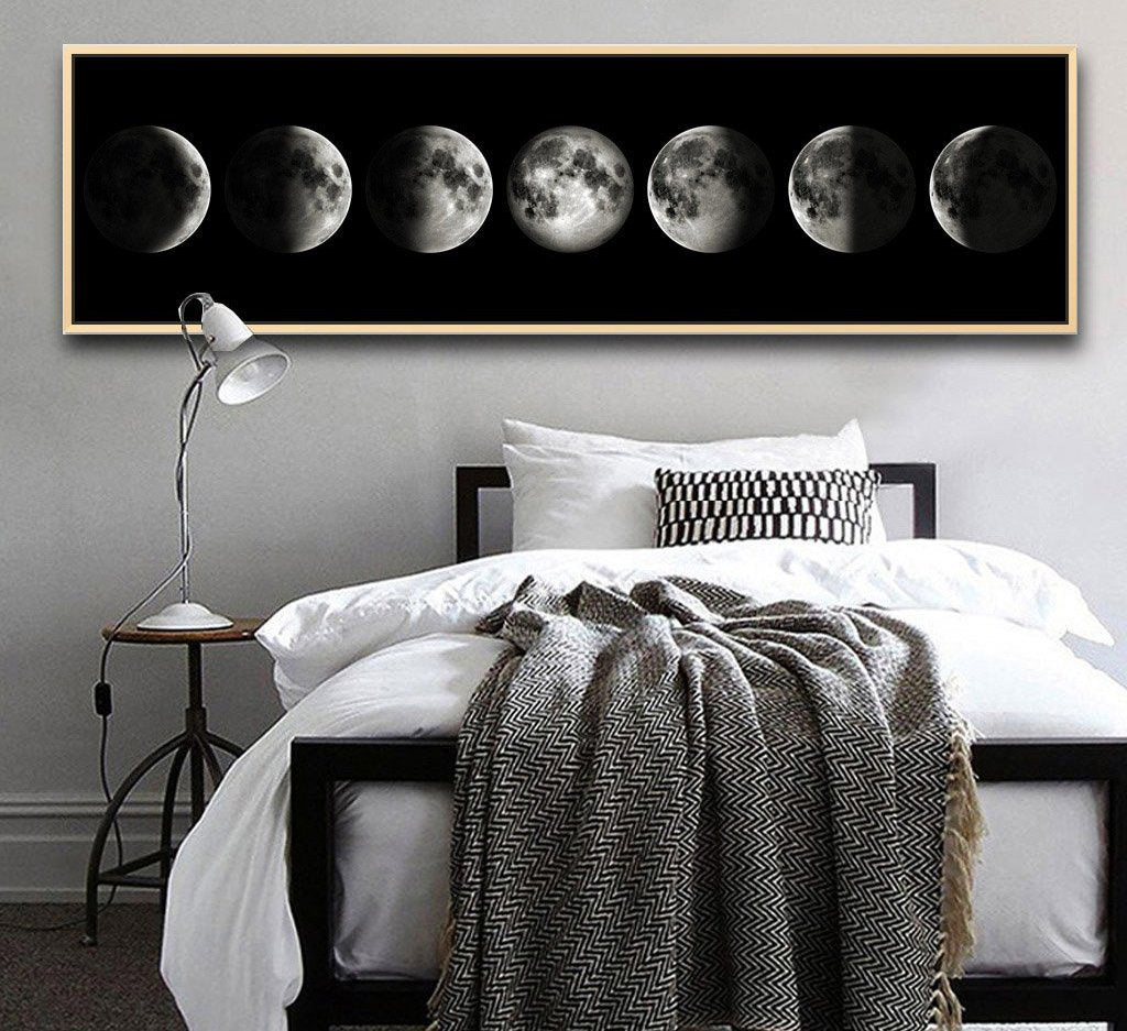 Eclipse of The Moon Canvas Picture - uniquelyfurniture.com