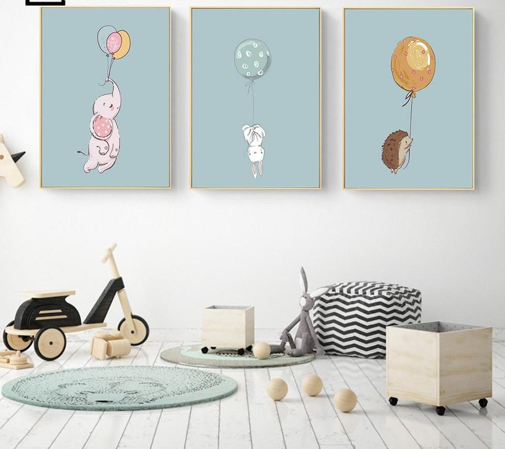 Cute Animal Canvas Set For Nursery - uniquelyfurniture.com
