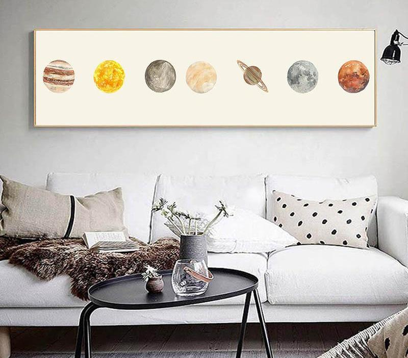Solar System Canvas - uniquelyfurniture.com
