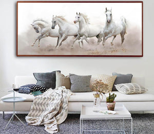 White Horse Wall Art Canvas - uniquelyfurniture.com