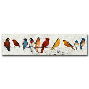 Bird Perched on Pole Canvas - uniquelyfurniture.com