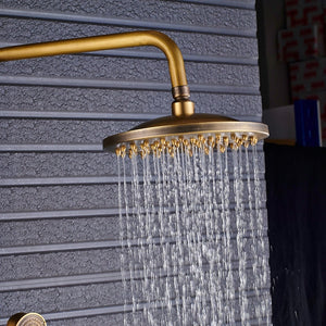 Antique Brass Shower Faucet - uniquelyfurniture.com