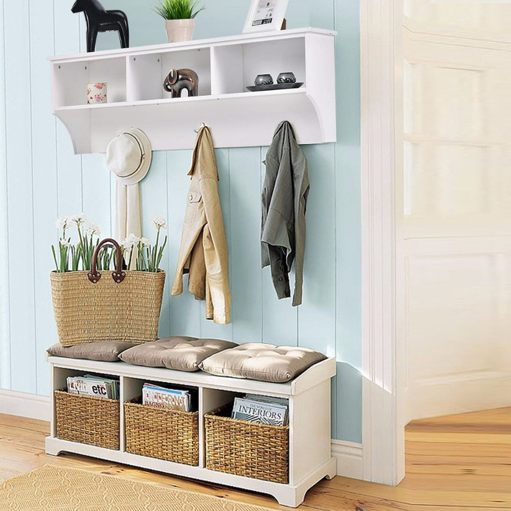 Hanging Entryway Storage Shelf - uniquelyfurniture.com