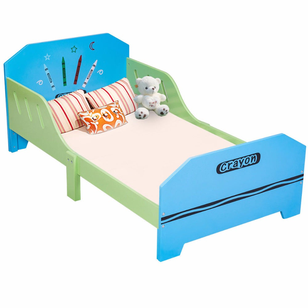 Crayon Themed Wooden Bed - uniquelyfurniture.com