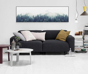 Foggy Forest Landscape Canvas - uniquelyfurniture.com