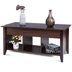Lift Top Coffee Table with Hidden Compartment - uniquelyfurniture.com