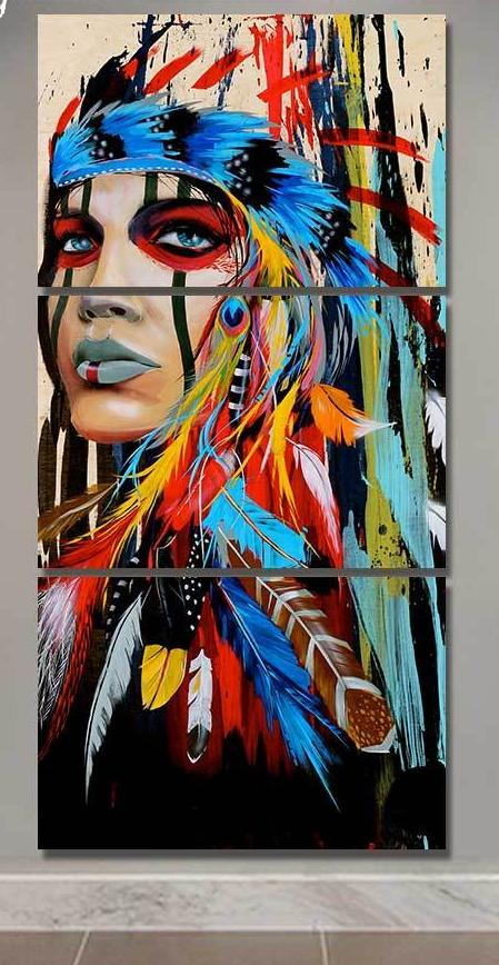 Native American Indian Canvas - uniquelyfurniture.com