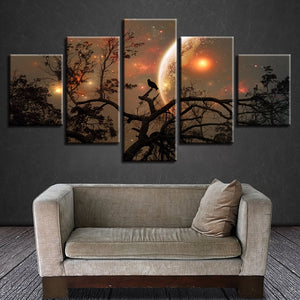 Magic Of The Moon Night Canvas - uniquelyfurniture.com