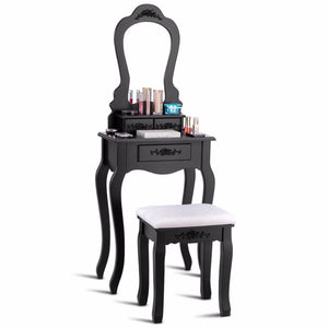 Vanity Dressing Table And Stool Set - uniquelyfurniture.com
