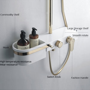 Golden White Shower Mixer System - uniquelyfurniture.com