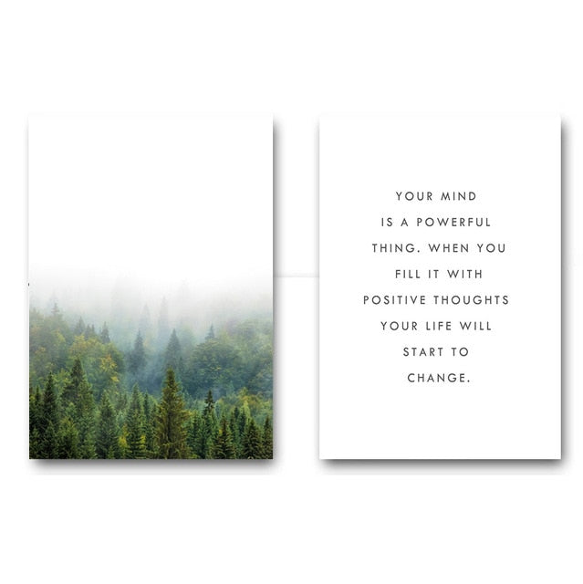 Scandinavian Motivational Quote Canvas - uniquelyfurniture.com