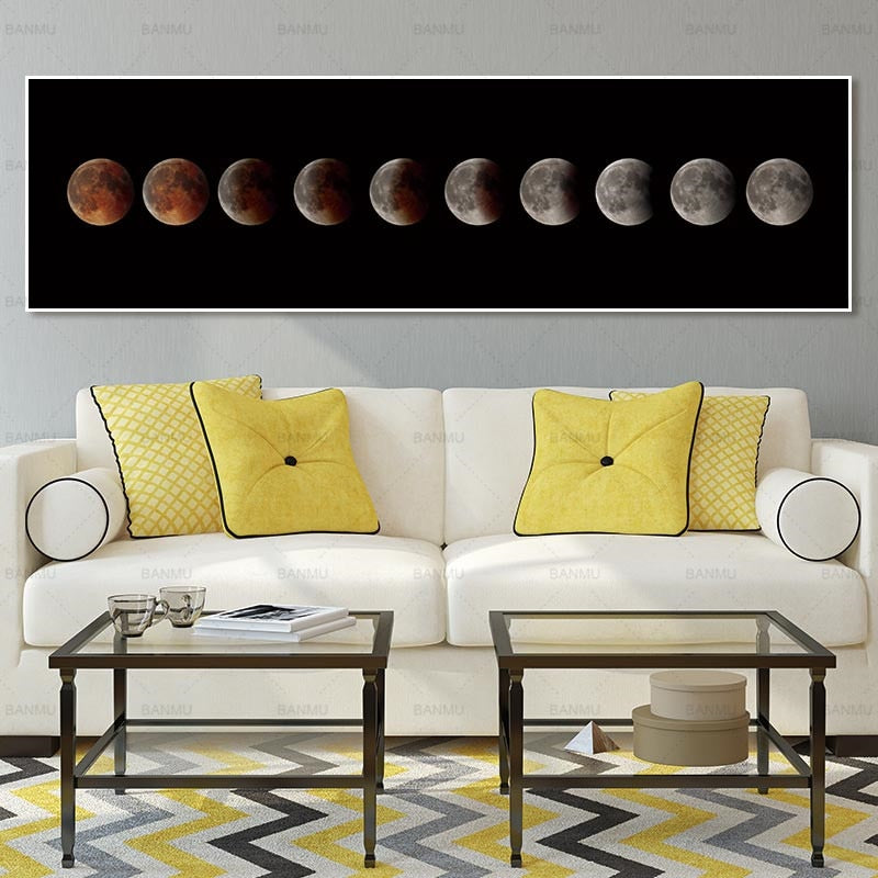 Moon Phase Colour Canvas