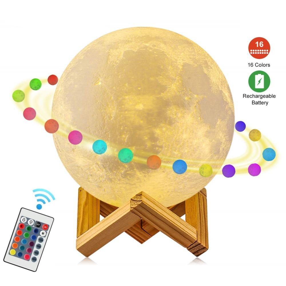 3D Moon Lamp - uniquelyfurniture.com