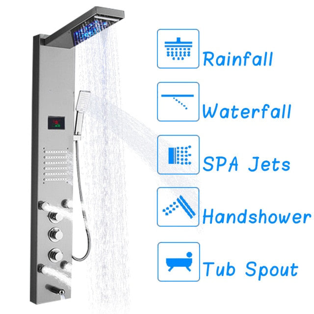 LCD Digital Display Shower Panel - uniquelyfurniture.com