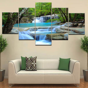 Natural Waterfall Canvas - uniquelyfurniture.com