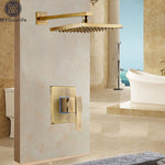 Antique Brass Shower Faucet Set - uniquelyfurniture.com