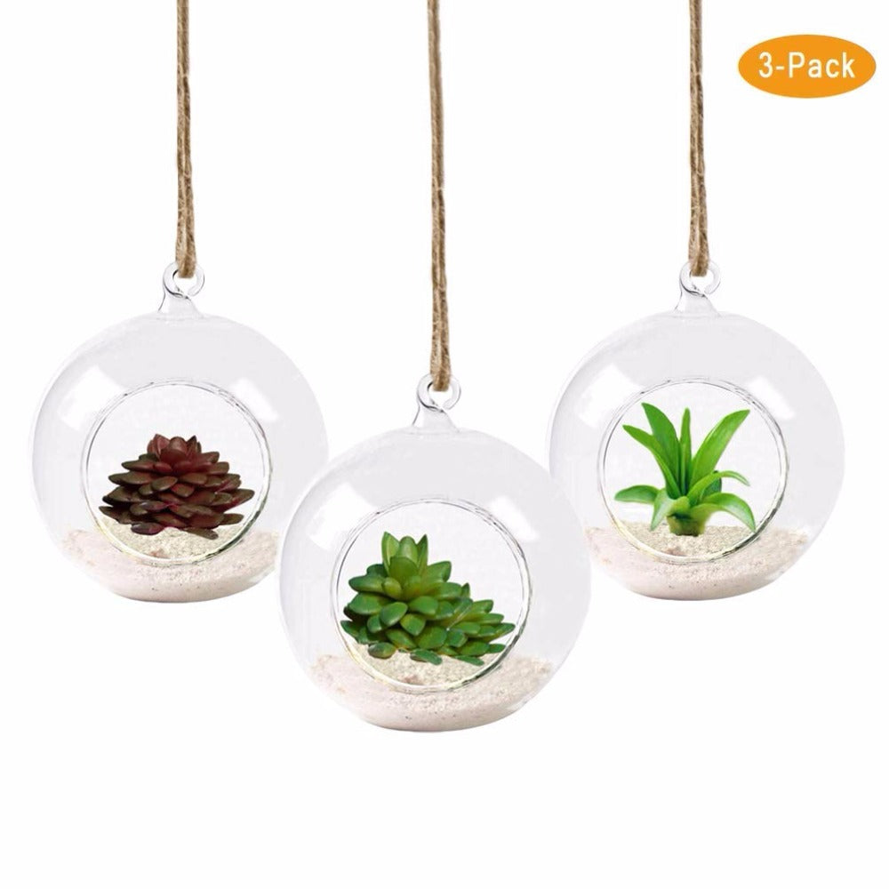 Pack of 3 Hanging Air Plant Pots - uniquelyfurniture.com