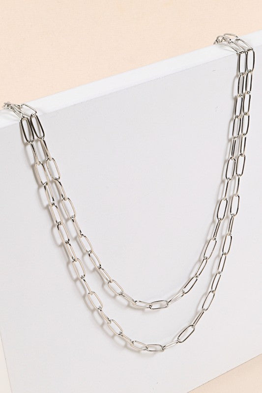 Tisha Double Layer Link Necklace
