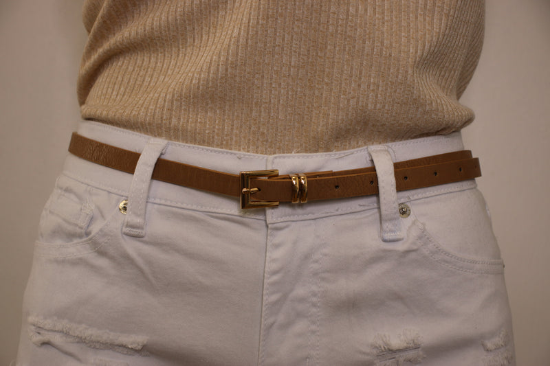 Jana Thin Square Buckle Belt