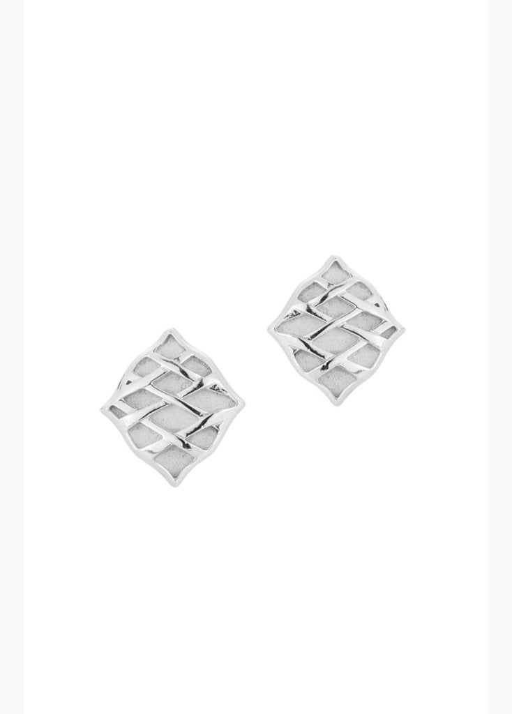 Southern Charm Stud Earrings - Silver
