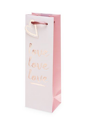 Love Love Love Single Bottle Wine Bag