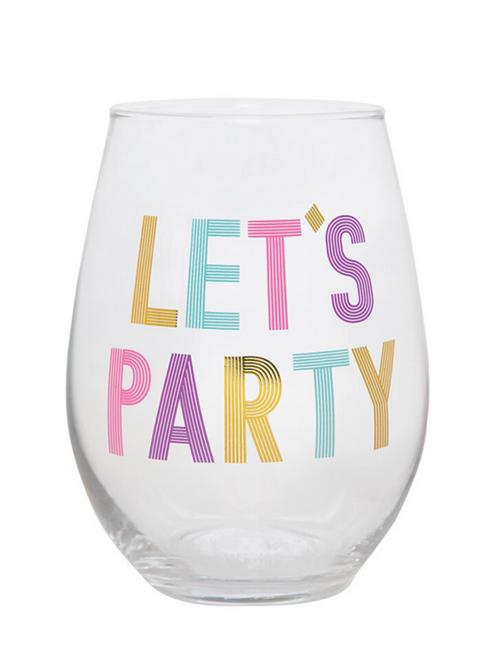 Let's Party Stemless Wine Glass
